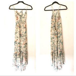 Billabong Ex Small Floral Print Halter Maxi Dress